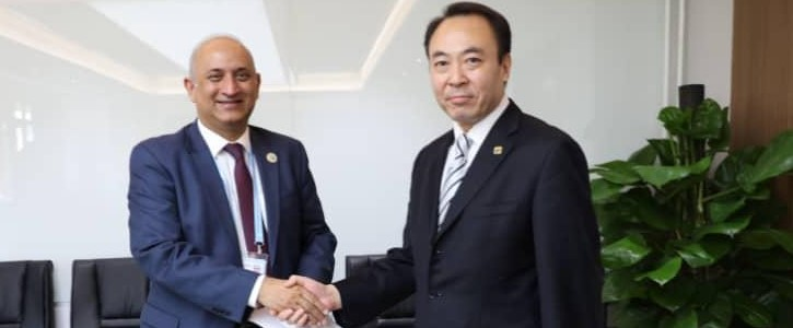 Mr. Haroon Sharif, MSO / Chairman, Board of Investment (BOI) meeting with Liu Dianxun