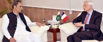 Zubair Gilani meeting with French Ambassador