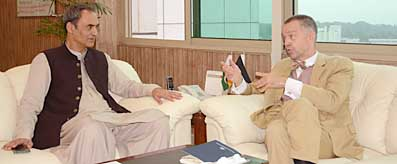 Zubair Gilani meeting with German Ambassador