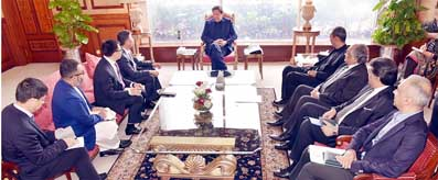 PM Imran Khan meeting with Chairman-SB, Huawei