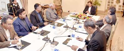 Prime Minister Imran Khan meeting on Aviation Matters
