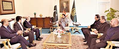 Zubair Gilani in a meeting with PM & Kevin Sneader