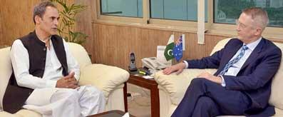 Zubair Gilani meeting with Australian High Commissioner