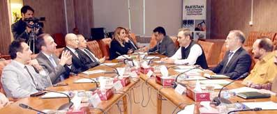 Zubair Gilani meeting with Egyptian Delegation