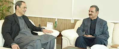 Zubair Gilani meeting with Chairman CPEC Authority