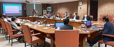 Atif R Bokhari presiding over Inter-Ministerial Meeting on Power