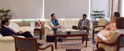 Atif R Bokhari meeting with Ambassador of Denmark